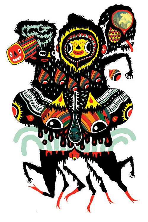 Illustrator Michael DeForge King Trash drawing