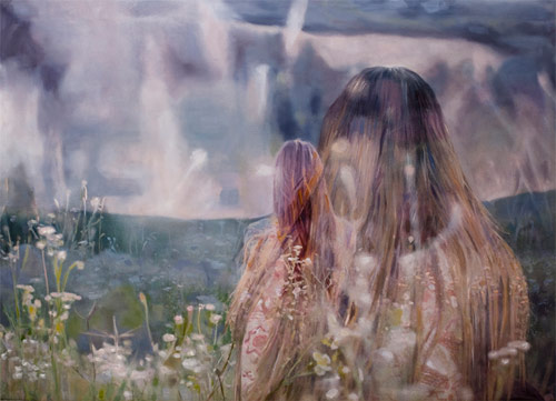 pakayla biehn artist painter double exposure painting