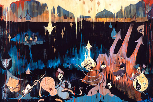 camille rose garcia painter seven painting los angeles