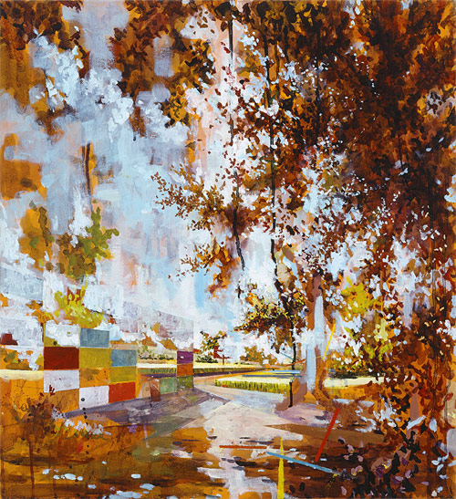 david schnell one abstract artist painter painting