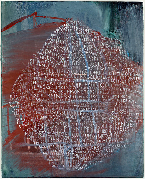 ej red blue web of words hauser artist painter painting