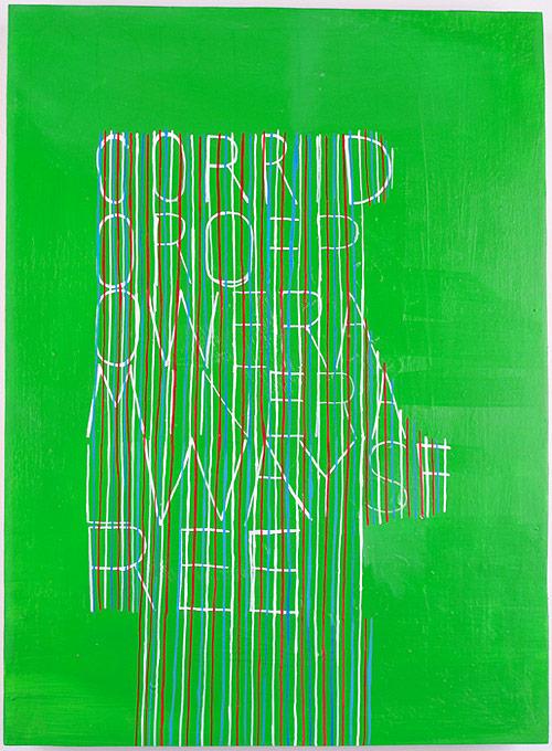 ej hauser artist white lettering stripes painter painting