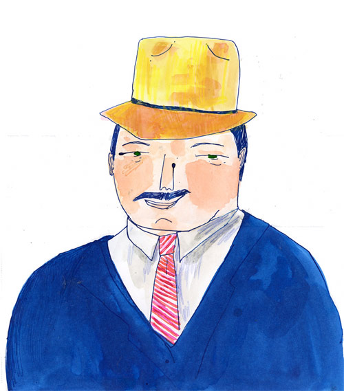 elizabeth graeber illustration illustrator baltimore man hat
