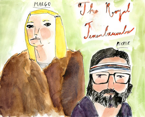 elizabeth graeber illustration the royal tenenbaums richie margot illustrator baltimore