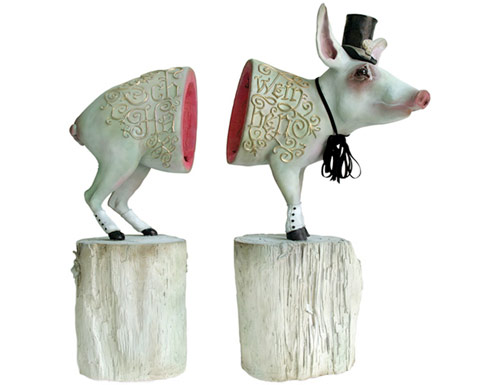 elizabeth mcgrath art sculpture pig