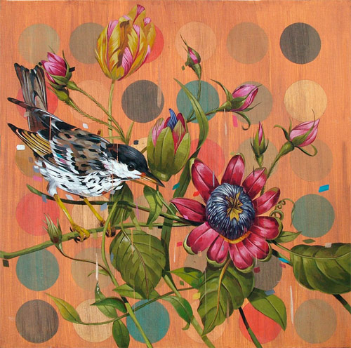 frank gonzales four artist painter painting birds flowers