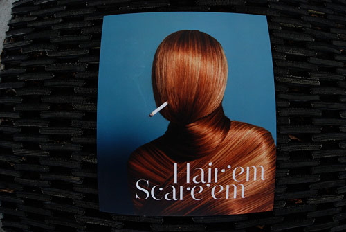 hair em scare em gestalten book publication art hair illustration photography