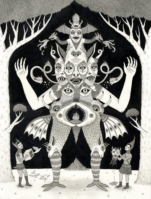 one jon macnair illustrator illustration michigan artist drawing