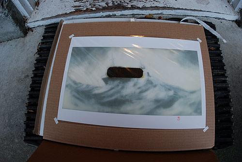 kenichi hoshine graphite acrylic artist drawing wax print
