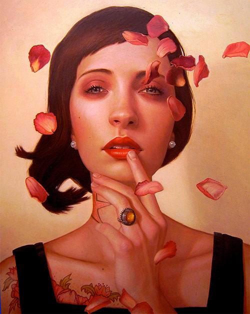 kris lewis flower petals artist painter painting
