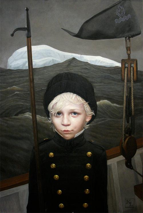 kris lewis artist boy boat painter painting
