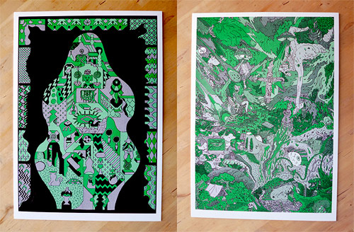 landfill manymono giveaway booooooom art prints