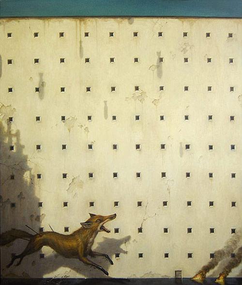 artist painter painting wall fox martin wittfooth