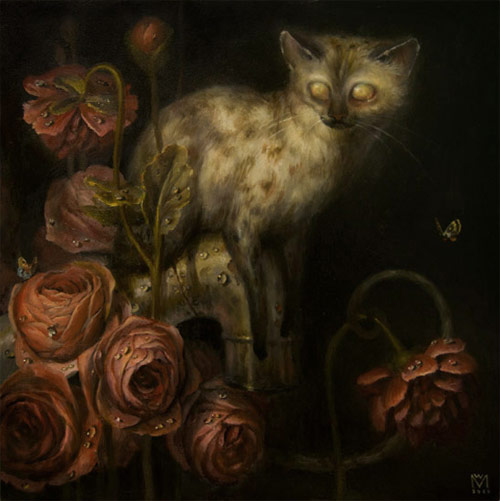 artist painter painting flowers martin wittfooth
