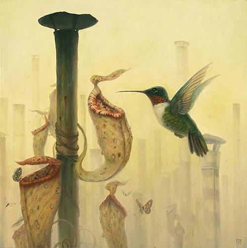 artist painter painting humming bird martin wittfooth
