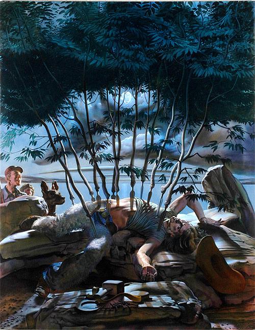 nicola verlato artist spears stabbing painter painting
