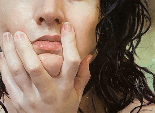 alyssa monks photorealism painter painting nude portrait