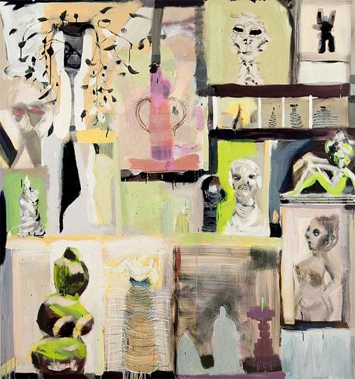 Artist painter Emily Noelle Lambert painting