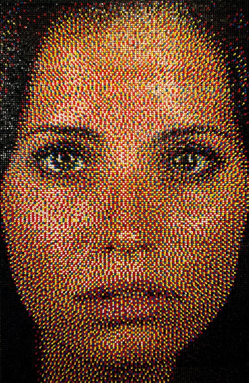 eric daigh push pin art portrait