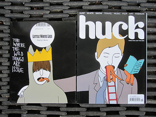 little white lies huck magazine joint split cover geoff mcfetridge where the wild things are spike jonze