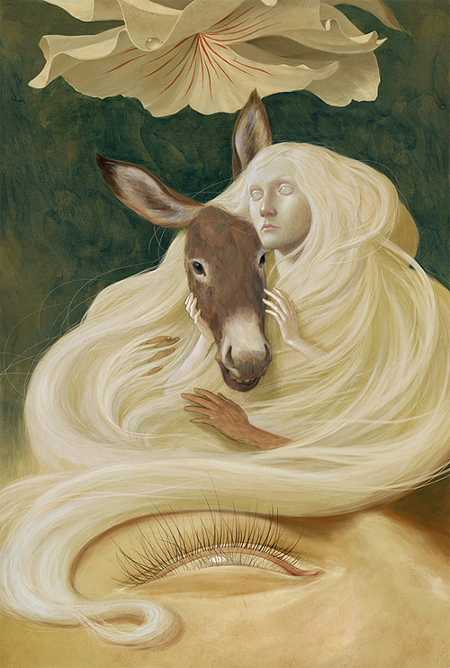 jeremy enecio girl with donkey painting illustration illustrator