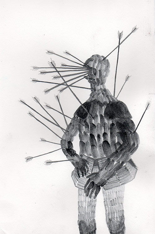 Artist illustrator Kaeleen Wescoat - Oneill drawing