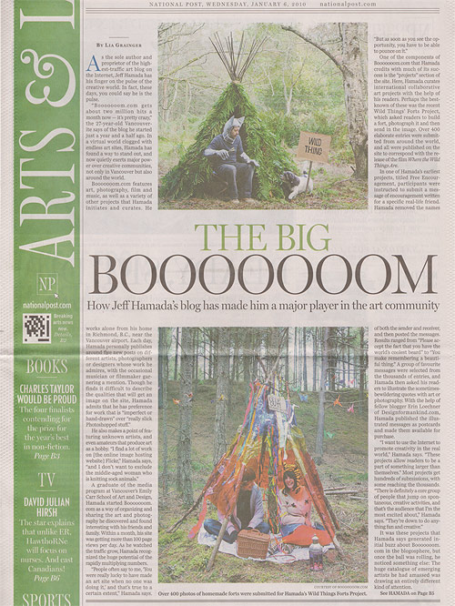 national post arts life article booooooom jeff hamada