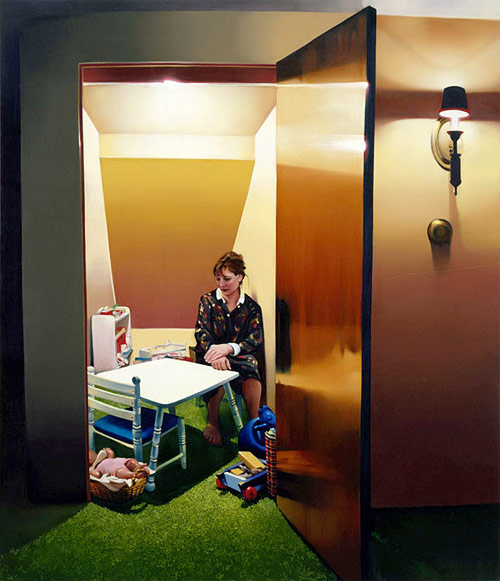 rebecca campbell inside room with toys artist painter painting