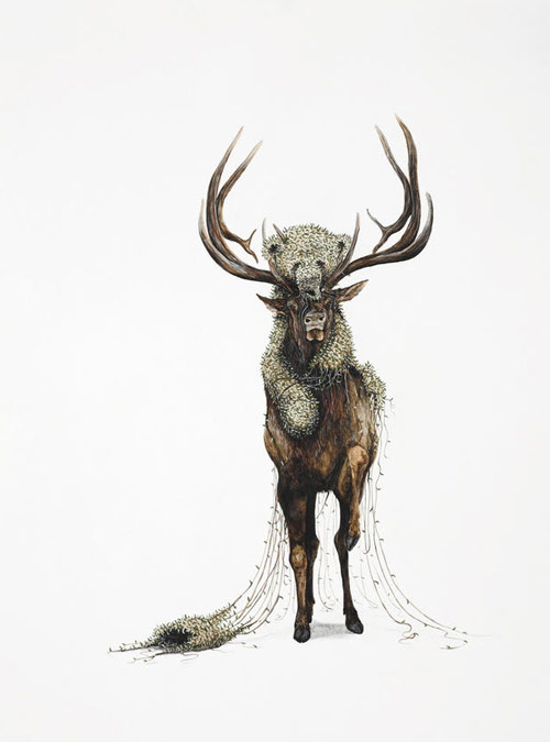 ryan mclennan artist painter painting deer antlers seven