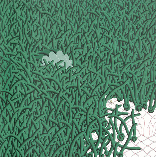 song myung-jin painter blades of grass painting