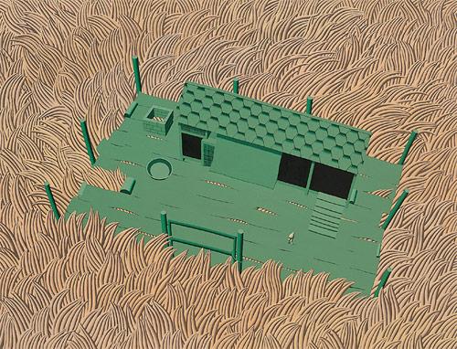 song myung-jin painter green platform painting