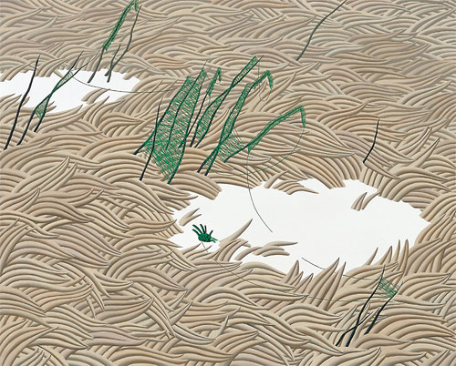 song myung-jin painter brown straw painting