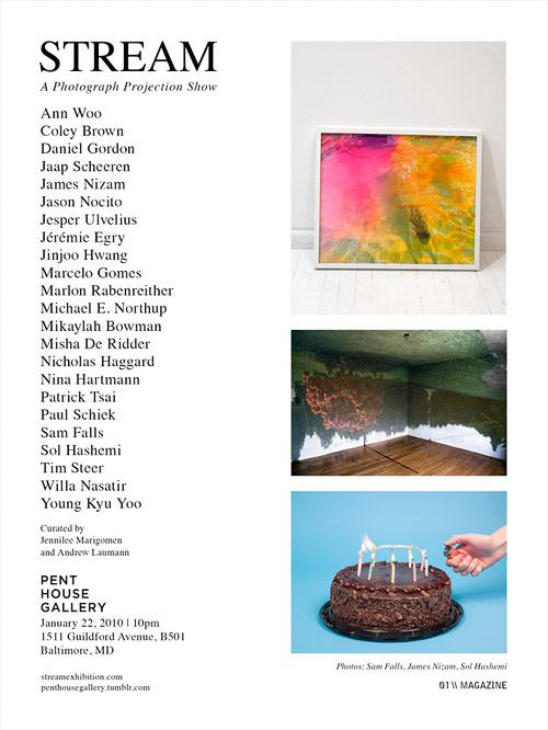 stream photograph projection show LA los angeles gallery space 15 twenty