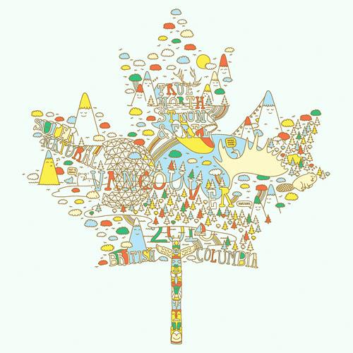 Vancouver-based artist Jeff Hamada for Oakley 2010 Olympics drawing illustration