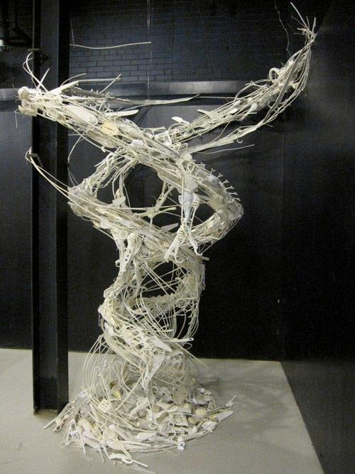 Reclaimed object sculptures by Sayaka Kajita Ganz