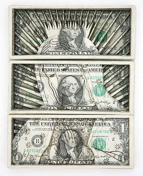 artist tattoo scott campbell laser cut dollar bills