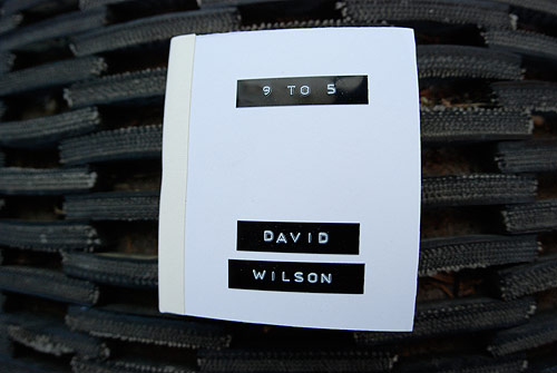 david wilson photographer photography 9 to 5 series handmade photo book
