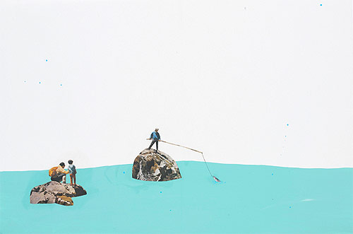 misaki kawai artist drawing collage