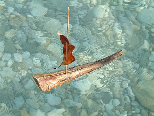 Pooh Sticks by Lenny boats