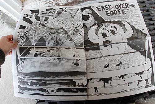 Egg On Bread newspaper by Ana Benaroya and Ahu Sulker