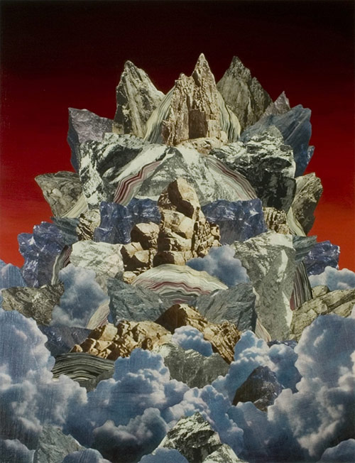 adam friedman artist collage mixed media