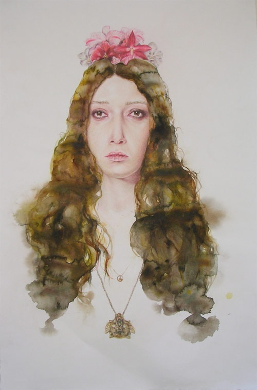 artist painter painting serena cole watercolor drawing