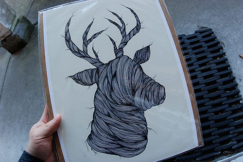 justin bryan nelson deer drawing