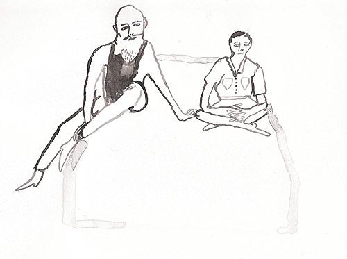 Illustrator Pia Bramley drawing illustration