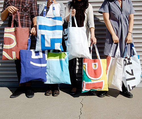 poketo recycled street banner bags