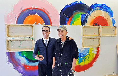 artist painter painting richard jackson bob rennie vancouver pellet gun installation painting canvas as brush
