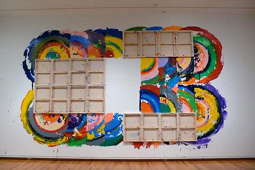 artist painter painting richard jackson  installation painting canvas as brush