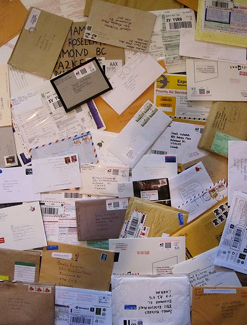 small victories envelopes mail art photography