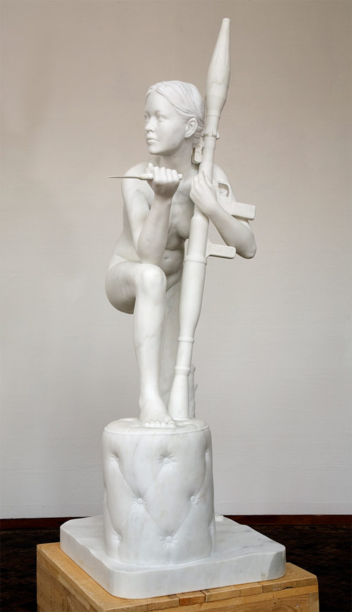 thom puckey nude av with knife rpg artist sculpture