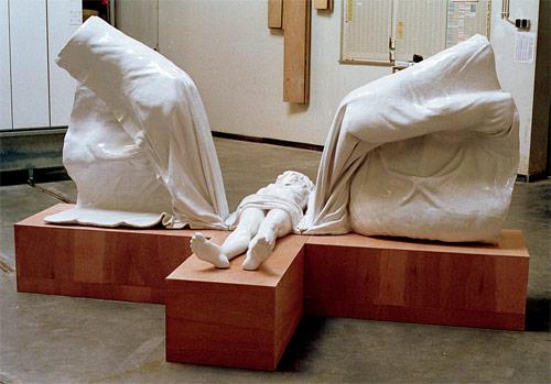 thom puckey artist cross sculpture